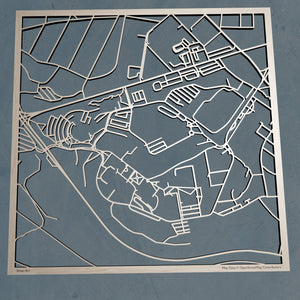 West Virginia University Morgantown 3D Wooden Laser Cut Campus Map | Unique WVU Gift