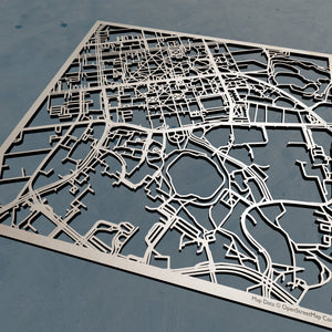 University of North Carolina at Chapel Hill in Chapel Hill, North Carolina 3D Wooden Laser Cut Campus Map | Unique UNC Gift