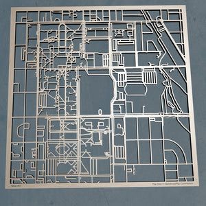 University of Oklahoma in Norman Oklahoma  3D Wooden Laser Cut Campus Map | Unique OU Gift