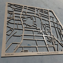 Load image into Gallery viewer, NC Central | North Carolina Central University in Durham NC 3D Wooden Laser Cut Campus Map | Unique Gift