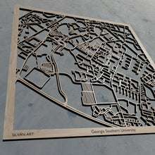 Load image into Gallery viewer, Georgia Southern University in Statesboro GA 3D Wooden Laser Cut Campus Map | Unique Gift | Silvan Art