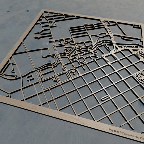 CSU Chico | Cal State University Chico - Wooden Laser Cut Map | Unique Gift