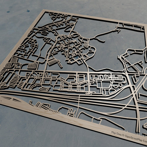 Wright State University - Wooden Laser Cut Map | Unique Gift