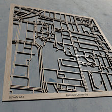 Load image into Gallery viewer, Belmont University in Nashville TN 3D Wooden Laser Cut Campus Map | Unique Gift