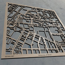 Load image into Gallery viewer, University of Akron in Akron OH 3D Wooden Laser Cut Campus Map | Unique Gift | Silvan Art