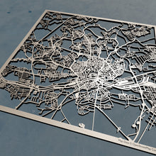 Load image into Gallery viewer, Frankfurt Germany - 3D Wooden Laser Cut Map