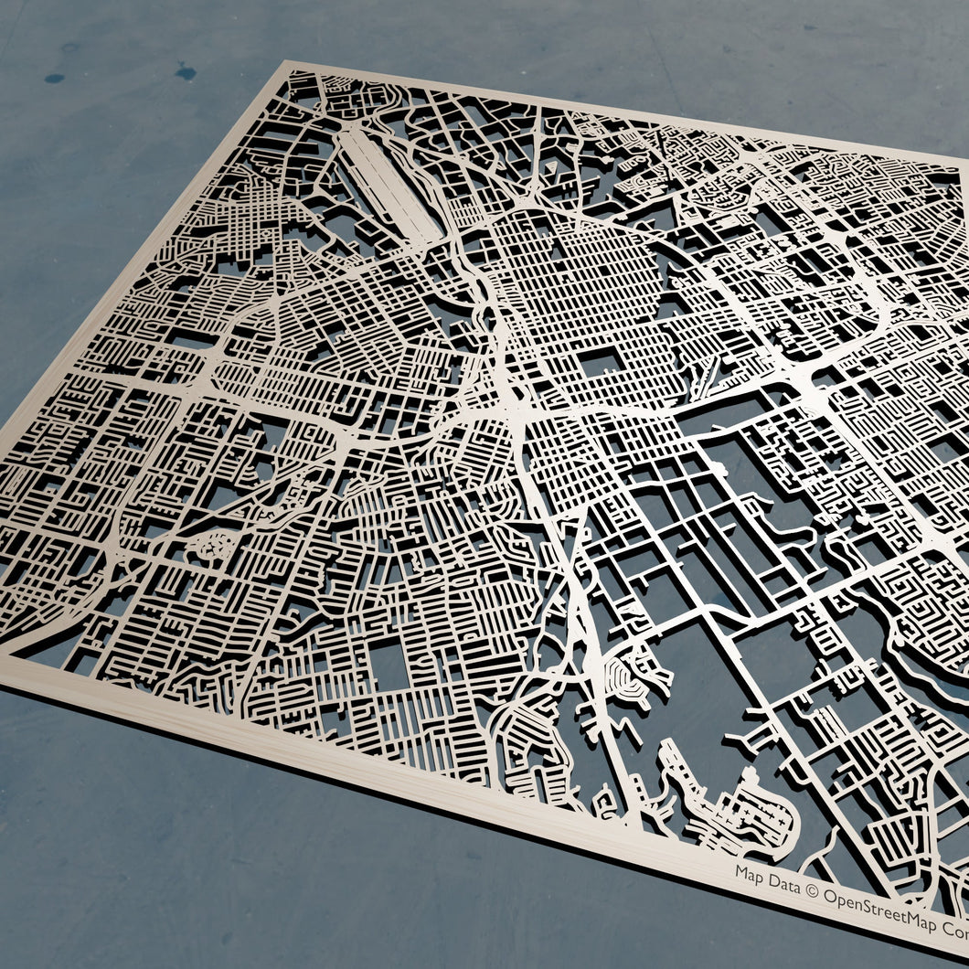 San Jose, California - 3D Wooden Laser Cut Map | Unique Gift