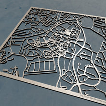 Load image into Gallery viewer, Stony Brook University 3D Wooden Laser Cut Campus Map