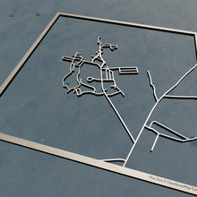 Load image into Gallery viewer, Anna Maria College 3D Wooden Laser Cut Campus Map - Silvan Art