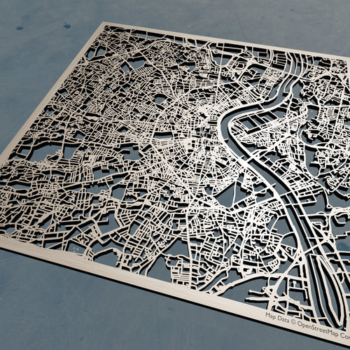 Bordeaux France - 3D Wooden Laser Cut Map | Unique Gift