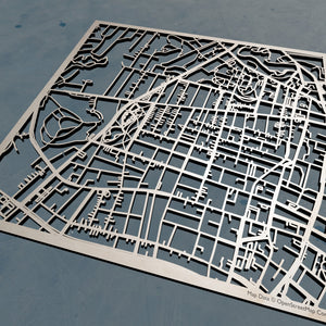 Becker College 3D Wooden Laser Cut Campus Map - Silvan Art