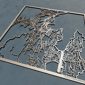 Wellington New Zealand - 3D Wooden Laser Cut Map | Unique Gift