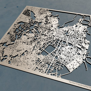 Jaipur India - 3D Wooden Laser Cut Map | Unique Gift