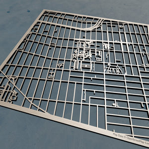Pratt Institute 3D Wooden Laser Cut Map | Unique Gift - Silvan Art
