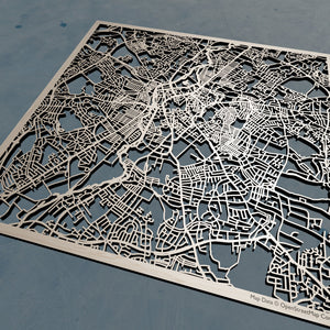 Leicester England - 3D Wooden Laser Cut Map