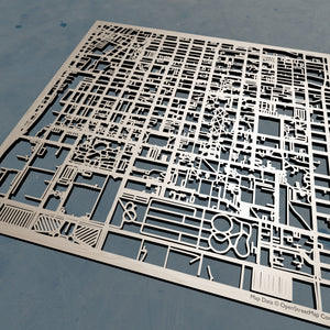 UIUC University of Illinois at Urbana-Champaign - 3D Wooden Laser Cut Campus Map | Unique Gift