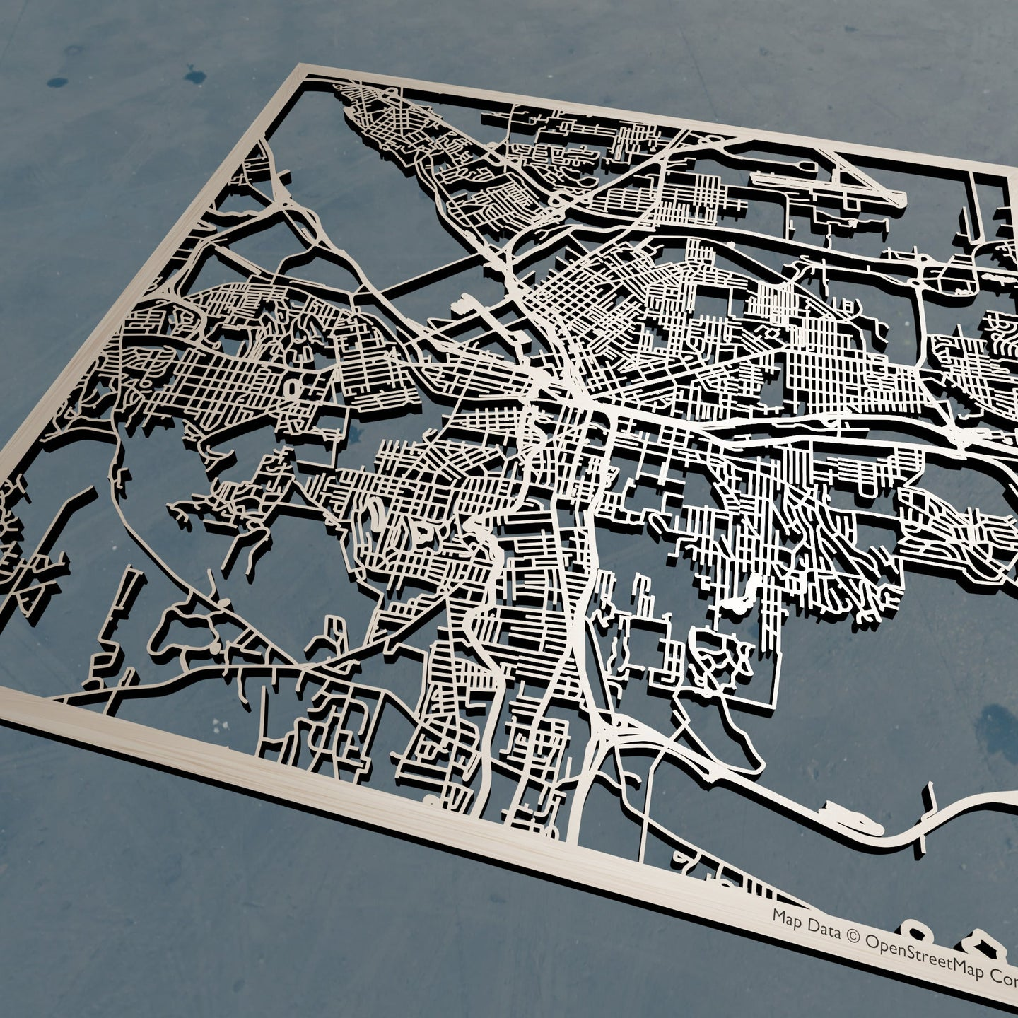 Syracuse, New York - 3D Wooden Laser Cut Map | Unique Gift