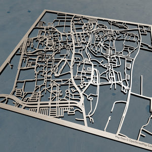 UMass Amherst 3D Wooden Laser Cut Campus Map