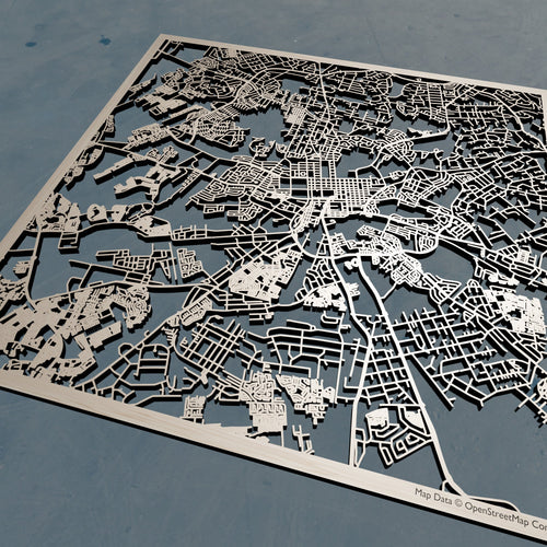 Harare Zimbabwe - 3D Wooden Laser Cut Map