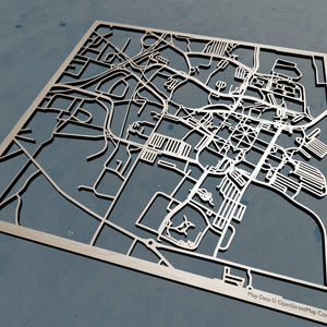 Mississippi State University 3D Wooden Laser Cut Campus Map