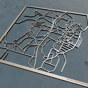 Bard College 3D Wooden Laser Cut Map | Unique Gift - Silvan Art