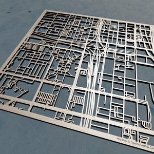 UIC University of Illinois at Chicago - 3D Wooden Laser Cut Campus Map | Unique Gift