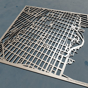United States Coast Guard Academy 3D Wooden Laser Cut Campus Map - Silvan Art