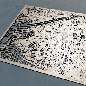 Osaka Japan - 3D Wooden Laser Cut Map | Unique Gift