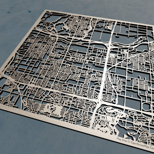 Tempe Arizona - 3D Wooden Laser Cut Map