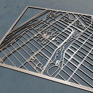 Barnard College 3D Wooden Laser Cut Map - Silvan Art