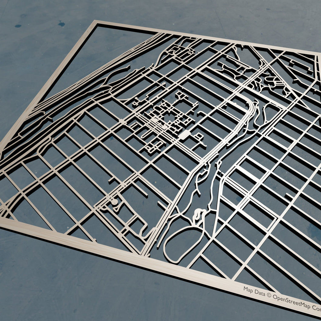 Barnard College 3D Wooden Laser Cut Map | Unique Gift - Silvan Art