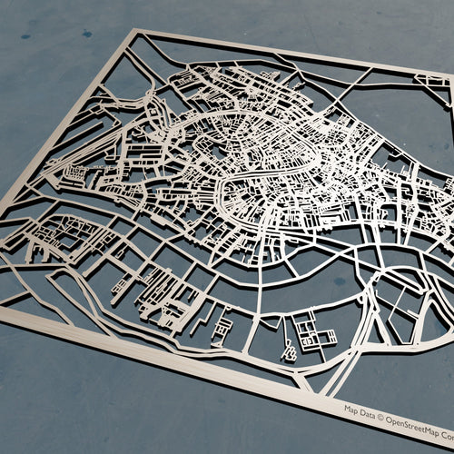 Venice Italy - 3D Wooden Laser Cut Map | Unique Gift