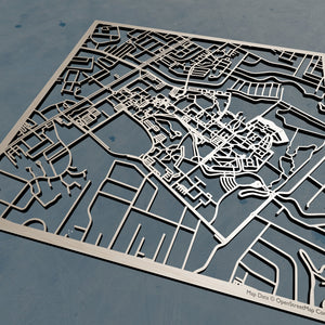 UNC Wilmington 3D Wooden Laser Cut Campus Map