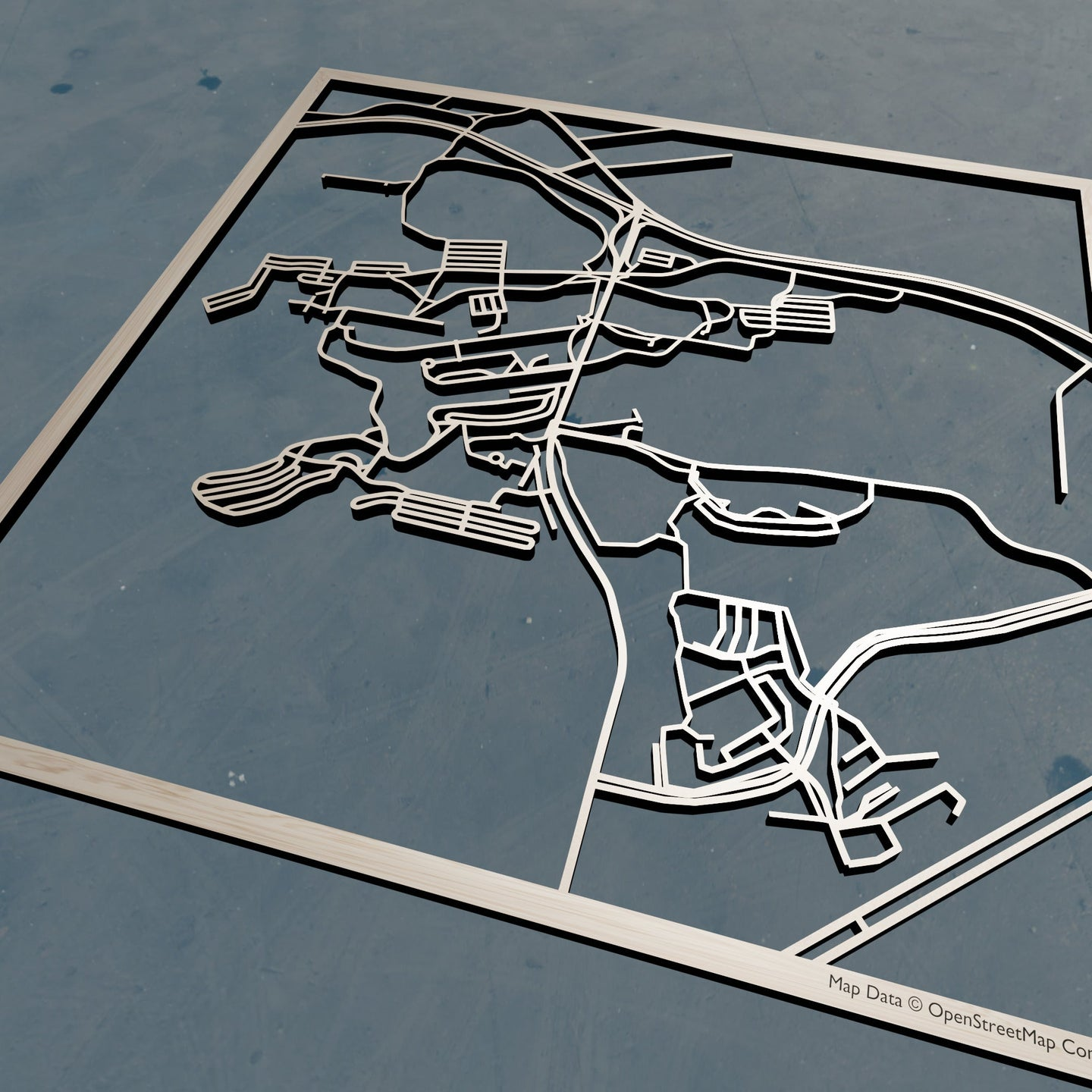 Penn State Behrend 3D Wooden Laser Cut Map | Unique Gift - Silvan Art