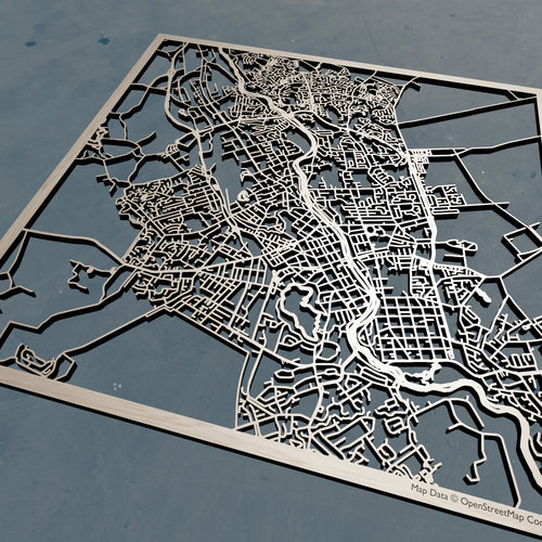 Hamilton New Zealand - 3D Wooden Laser Cut Map | Unique Gift
