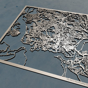 Plymouth England - 3D Wooden Laser Cut Map