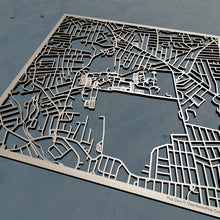 Load image into Gallery viewer, Rhode Island College RIC 3D Wooden Laser Cut Map - Silvan Art