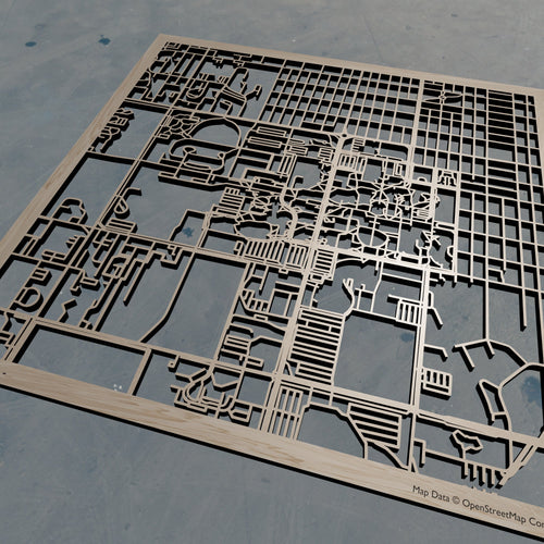 Montana State University 3D Wooden Laser Cut Campus Map | Unique Gift