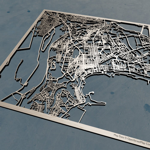 Baku, Azerbaijan - 3D Wooden Laser Cut Map | Unique Gift