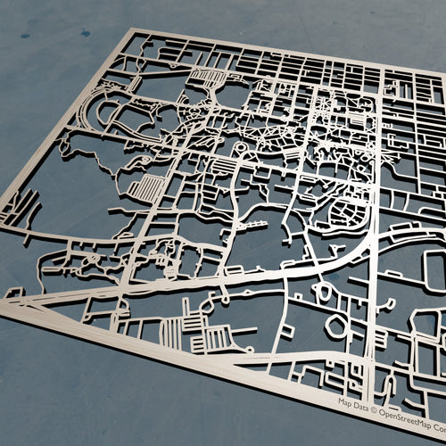 University of Florida (UF) - 3D Wooden Laser Cut Campus Map | Unique Gift