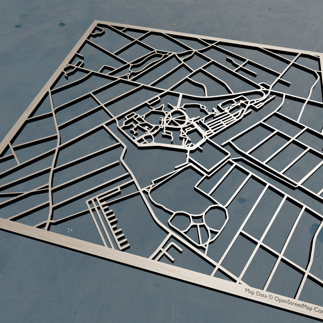 Seton Hall University 3D Wooden Laser Cut Campus Map | Unique Gift - Silvan Art