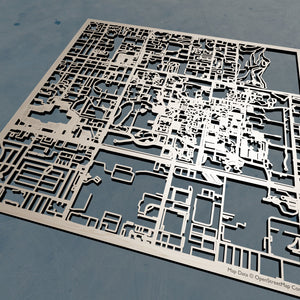 University of South Florida USF - 3D Wooden Laser Cut Campus Map | Unique Gift