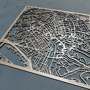 Pitt (University of Pittsburgh) 3D Wooden Laser Cut Campus Map | Unique Gift