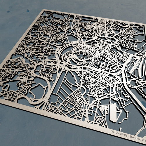 Strasbourg France - 3D Wooden Laser Cut Map | Unique Gift