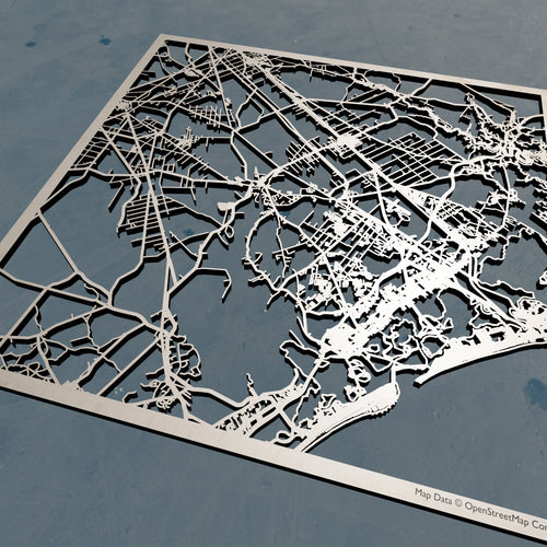 Atlantic County New Jersey - 3D Wooden Laser Cut Map | Unique Gift