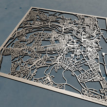 Load image into Gallery viewer, Sunderland England - 3D Wooden Laser Cut Map