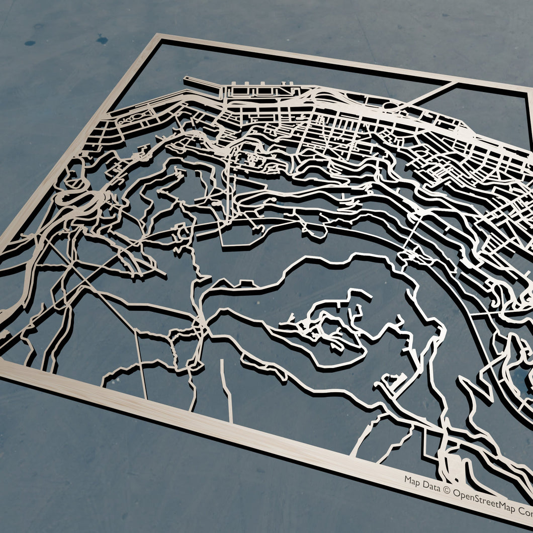 CUHK Chinese University of Hong Kong 3D Wooden Laser Cut Campus Map | Unique Gift - Silvan Art