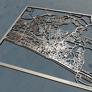 Brighton & Hove England - 3D Wooden Laser Cut Map | Unique Gift