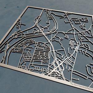 Southern New Hampshire University SNHU 3D Wooden Laser Cut Campus Map