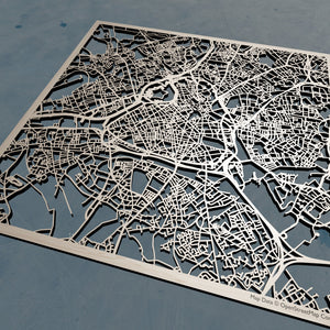 Lille France - 3D Wooden Laser Cut Map | Unique Gift